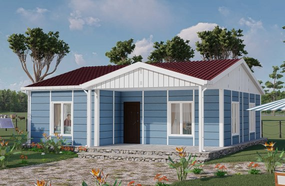 82 m2 High Roof Modular Houses
