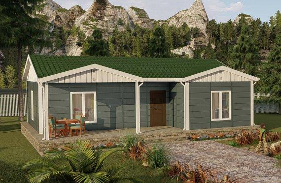 87 m2 Village Type Prefab Model House