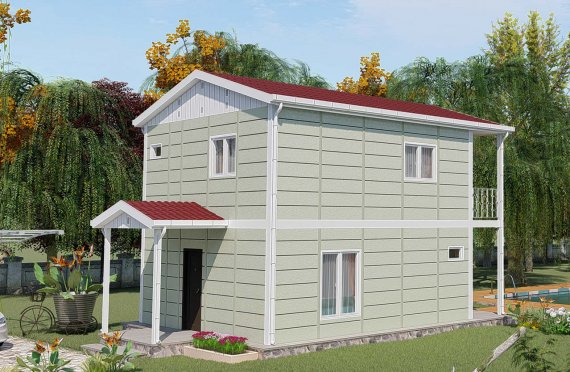 91 m2 Double Story Prefab Homes