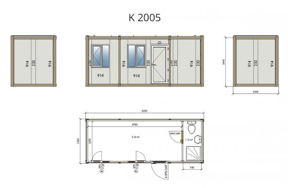 Flat Pack Container K 2005