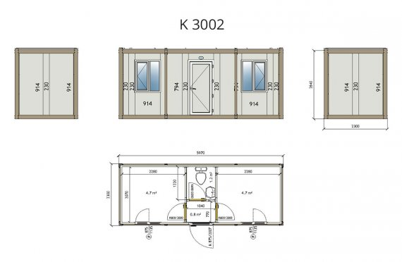 Flat Pack Container K 3002