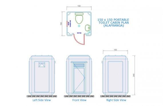 grp toilet cabin plans