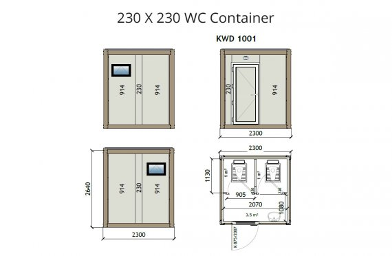 KW2 230X230 Wc Container