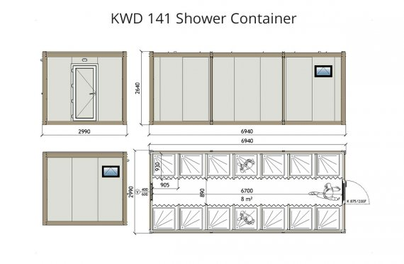 KWD 141 Shower Container