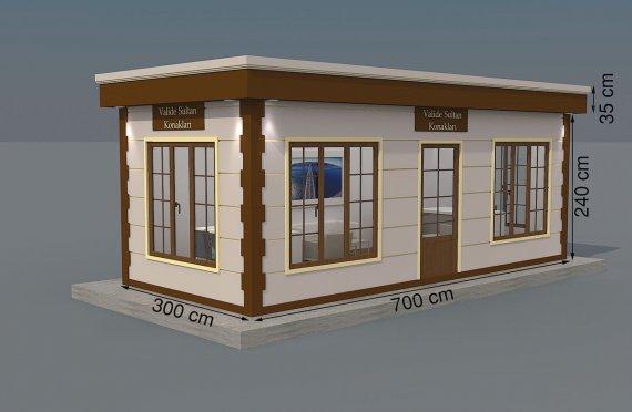 Modern Prefab Cabin 300x700