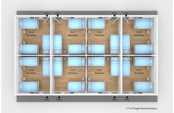 Prefabricated Dormitory 117 m2