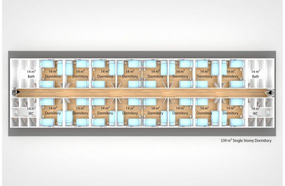 Prefabricated Dormitory 339 m2
