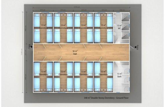 Prefabricated Dormitory 348 m²