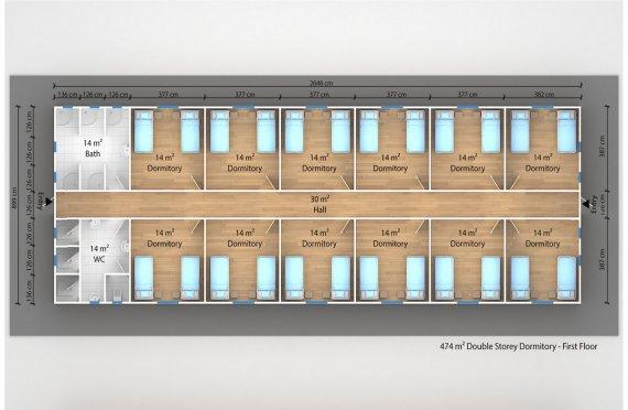 Prefabricated Dormitory 474 m²