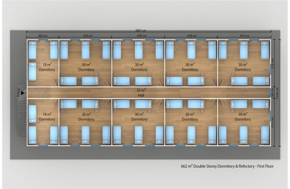 Prefabricated Dormitory 662 m²