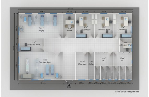 Prefabricated Hospital 275 M²