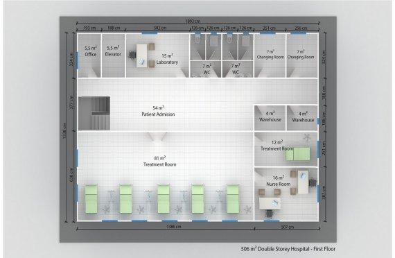 Prefabricated Hospital 506 M²