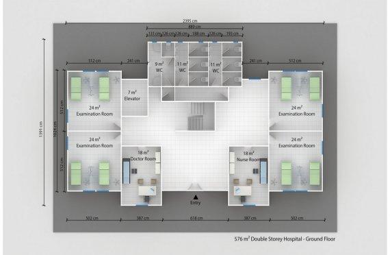 Prefabricated Hospital 576 M²