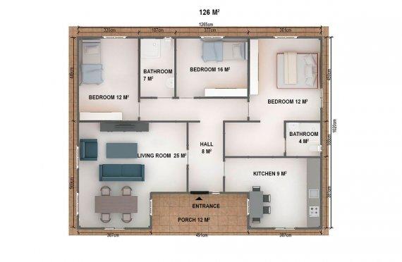 Prefabricated House - 126 m² Prefab Home