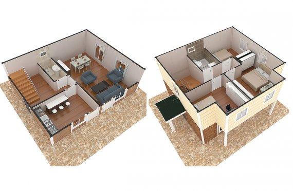 Karmod 114 m² Prefabricated Modular House - Designs and Plans