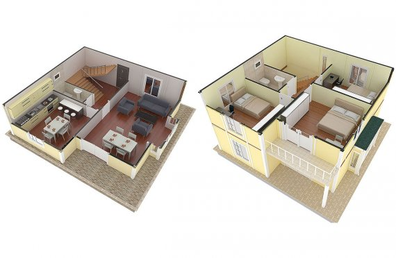 Karmod 124 m² Prefabricated Modular House - Designs and Plans