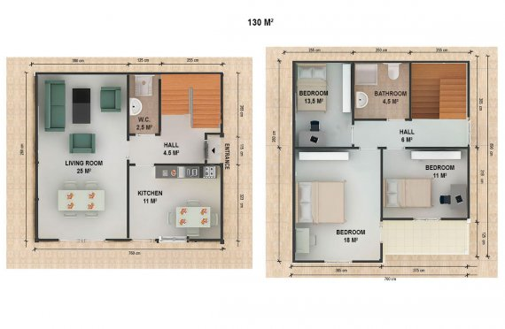 Prefabricated House Villa 130 m²