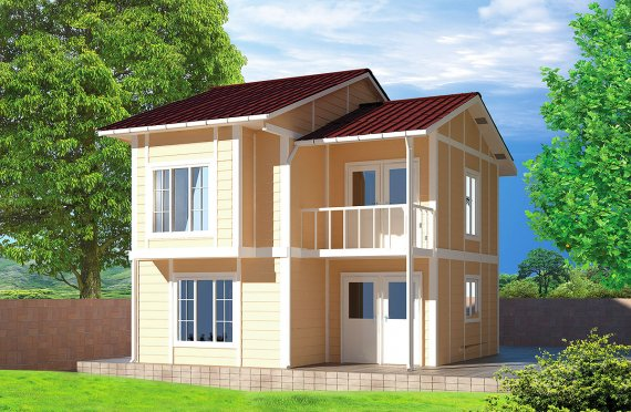 Prefabricated House 91 m²