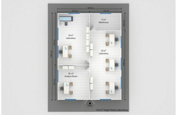 Prefabricated Laboratory 129 M²