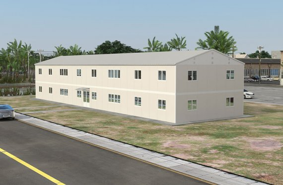 Prefabricated Office 588 m²