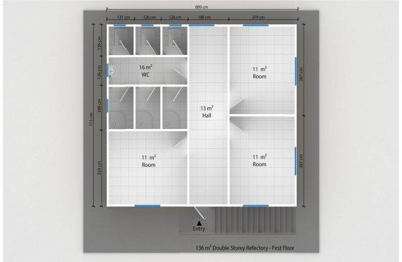 Prefabricated Refectory 136 m²