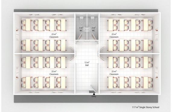 Prefabricated School 117 M²