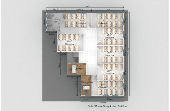 Prefabricated School 508 M²