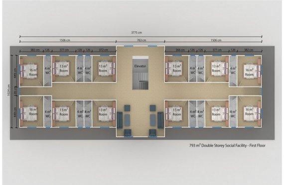 Prefabricated Social Facility 793 m²