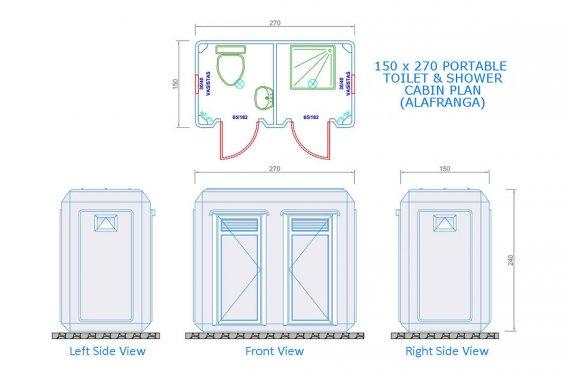 Wc - Shower Cabin 150 x 270
