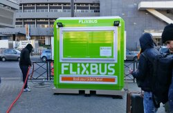 Flixbuss ticket booths from Karmod
