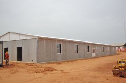 A prefabricated Mine work site building in Senegal