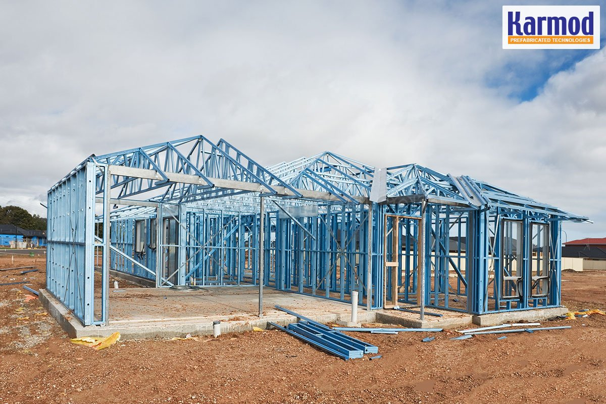 Modern steel frame homes cost of steel structure house for Modern steel frame homes