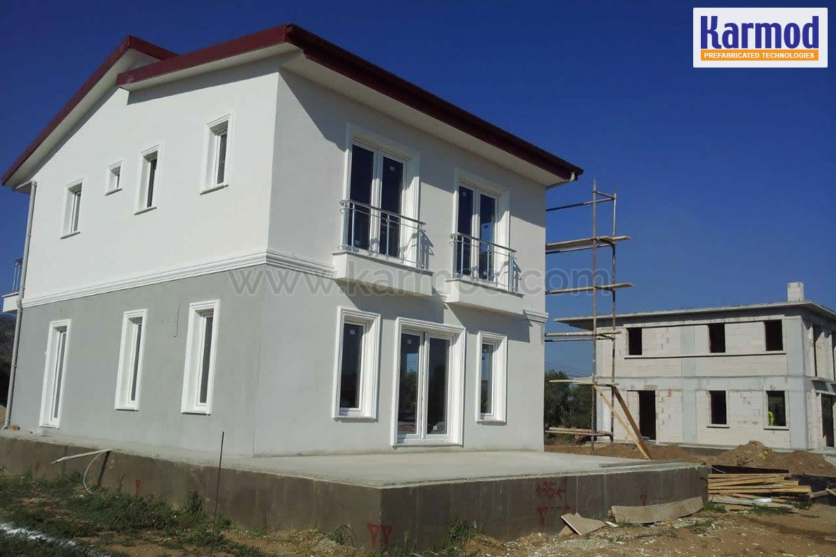 Duplex steel houses two storey villas karmod