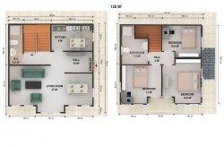 Double Storey Prefab Houses Plans